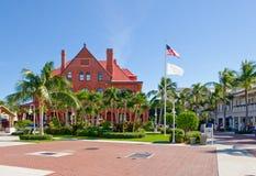 中心佛罗里达广场城镇 库存图片