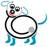 中心健康宠物 库存例证