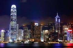 中心商务区在香港 图库摄影
