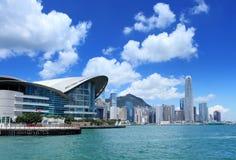 中心商务区在香港 免版税库存照片
