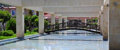 中心喷泉kemer 免版税库存照片