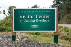 中心国家nyungwe公园uwinka访客 免版税库存图片