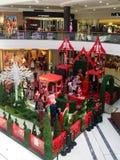 中心圣诞节购物时间 图库摄影