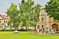 中心在Liptovsky Mikulas 库存照片