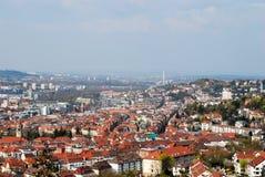 中心城市全景斯图加特视图 免版税库存照片