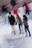 中心城市冰新的环形洛克菲勒・约克 免版税图库摄影