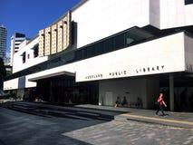 中心城市图书馆在奥克兰CBD -新西兰 免版税库存图片