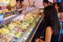中心城市奶油佛罗伦萨gelateria冰意大利界面 免版税库存照片