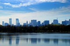 中心城市新的公园地平线约克 免版税图库摄影