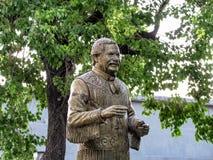 中心城市科鲁人napoca公园罗马尼亚位于了雕象 库存图片