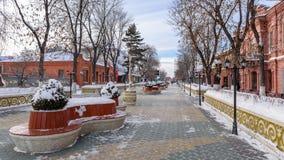 中心城市街道 库存图片