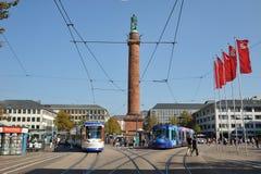 中心城市达姆施塔特德国 免版税库存照片