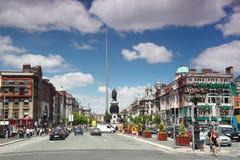 中心城市都伯林尖顶 免版税库存照片
