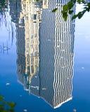 中心城市ny公园反映 免版税库存图片