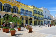 中心广场在哈瓦那,古巴 库存照片