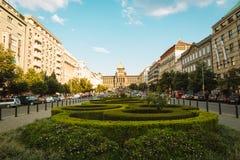 中心广场在布拉格,捷克语 免版税库存图片