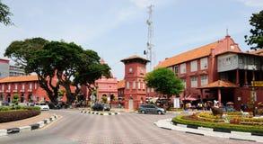 中心广场在Melaka 马来西亚 库存照片