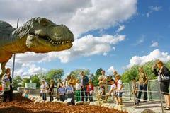 中心恐龙陈列芬兰科学 库存照片