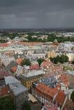 中心拉脱维亚老里加 免版税库存照片
