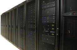 中心数据农场查出服务器 免版税库存图片