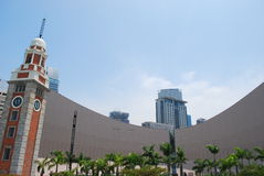 中心时钟文化香港塔 库存图片