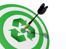 中心是回收 免版税库存照片