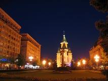 中心晚上罗马尼亚timisoara 免版税库存图片