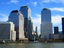 中心曼哈顿新的商业世界约克 免版税库存照片