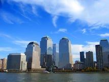中心曼哈顿新的商业世界约克 图库摄影