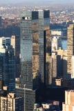 中心曼哈顿时代华纳 免版税库存照片