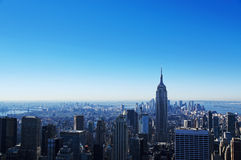 中心曼哈顿rockfeller视图 库存图片