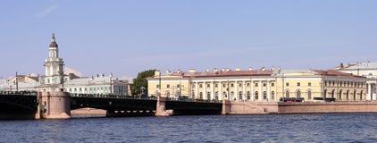 中心有历史的彼得斯堡俄国圣徒 库存图片