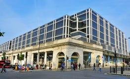 中心柱廊伦敦购物结构 免版税库存照片
