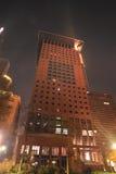 中心法兰克福日本晚上 免版税库存图片