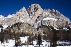 中心滑雪 免版税库存图片