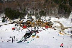 中心滑雪 图库摄影