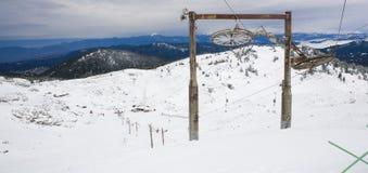 中心滑雪 库存图片
