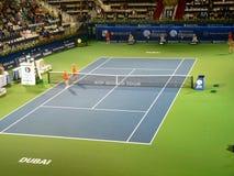 中心现场迪拜体育场网球 库存照片