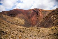 中心的volcan 免版税库存图片