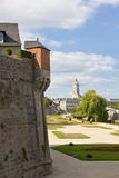 中心老城镇瓦讷 库存图片