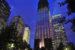 中心自由塔贸易世界 免版税图库摄影