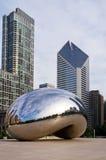 中心芝加哥街市千年 免版税库存照片
