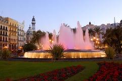 中心西班牙巴伦西亚 免版税图库摄影