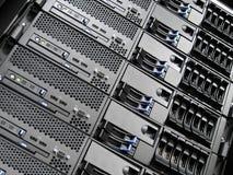 中心计算机数据服务器 免版税库存照片
