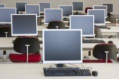 中心计算机训练 库存照片