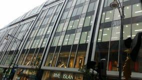 中心详细资料镜子波兰购物墙壁华沙 免版税图库摄影