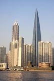 中心财务上海世界 免版税库存照片
