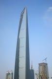 中心财务上海世界 库存照片
