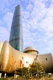 中心财务广州gzifc国际 免版税库存照片