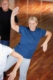 中心跳舞健身前辈 库存照片